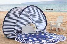 DIY nautical baby beach tent