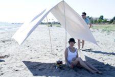 DIY portable beach shade