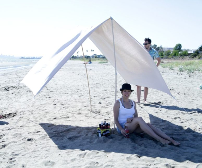 DIY portable beach shade (via www.instructables.com)