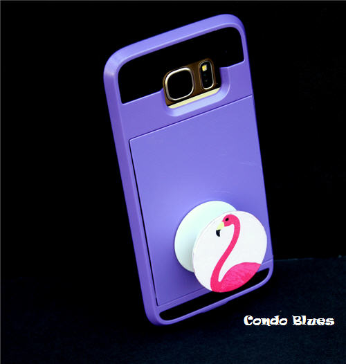DIY bright and fun pop socket (via www.condoblues.com)