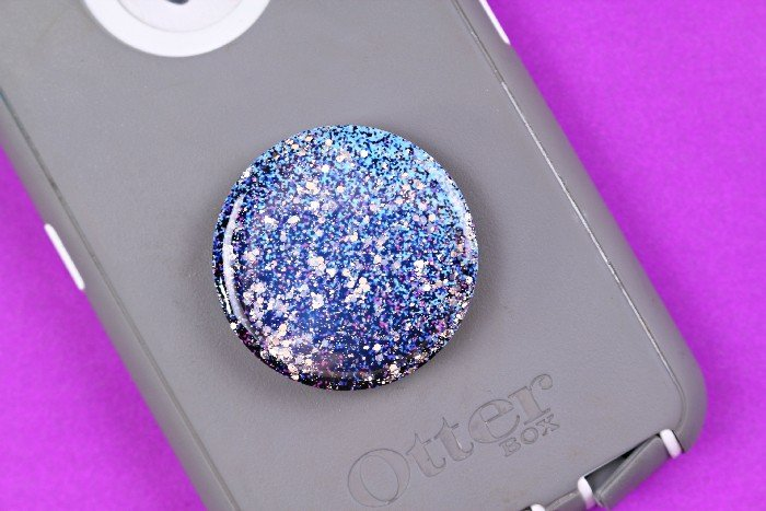 DIY galaxy pop socket with Mod Podge