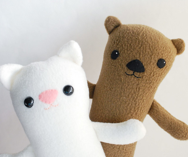 DIY ermine plushie that is easy to sew