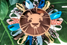 DIY safari lion tag baby toy