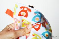 DIY crinkle taggie baby toy