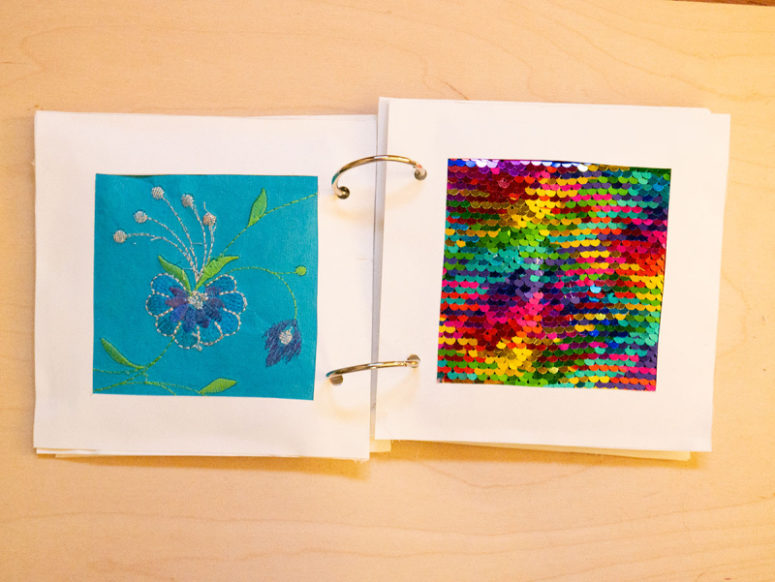 DIY touch book for babies (via www.thehomesteady.com)