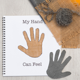 DIY touch and feel book to develop the sense of touch (via www.livingandloving.co.za)