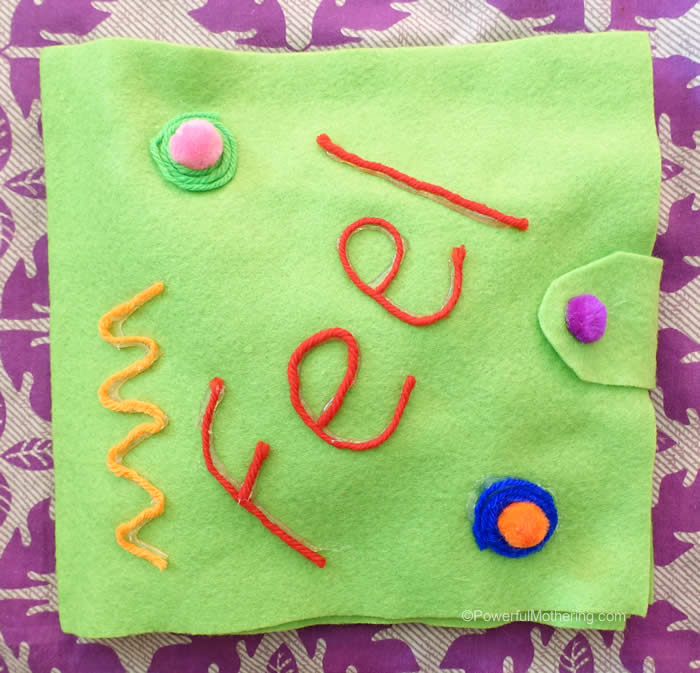 DIY no sew touch book for toddlers (via www.powerfulmothering.com)