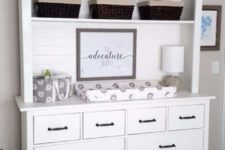 02 a Hemnes dresser turned into a changing table with a hood with shelves is a very functional idea