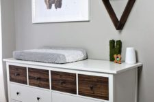 09 an IKEA Hemnes dresser done with dark stained wooden drawers for a rustic or woodland touch
