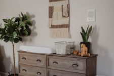 19 a vintage rustic hack of an IKEA Tarva dresser will perfectly match a boho or rustic nursery