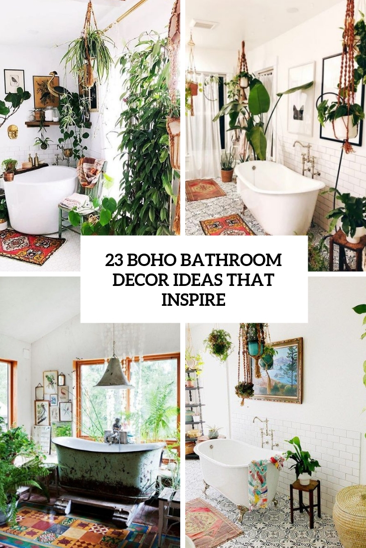 boho bathroom decor ideas that inspire cover