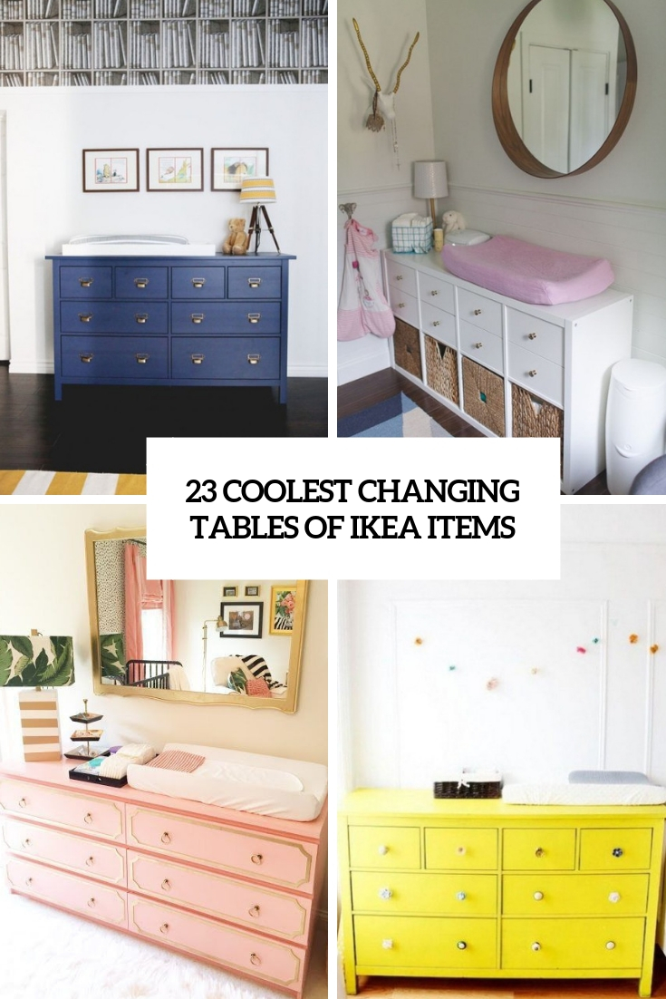 Image of: 23 Coolest Changing Tables Of Ikea Items Shelterness
