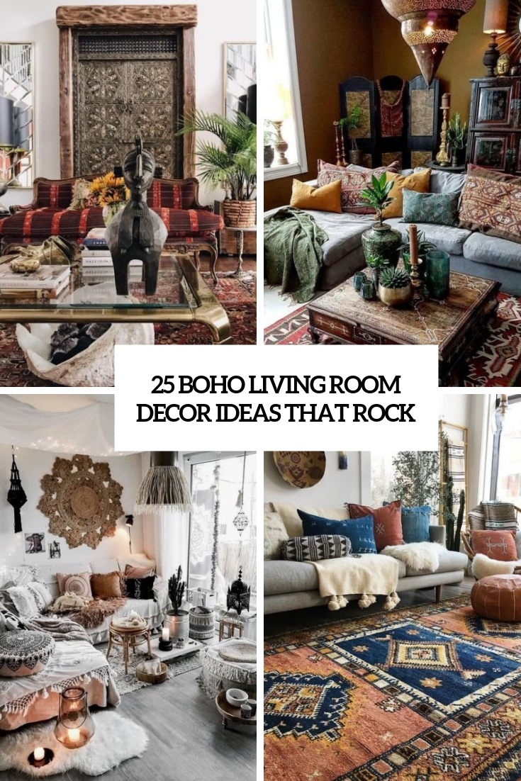 25 Boho Living Room Decor Ideas That Rock