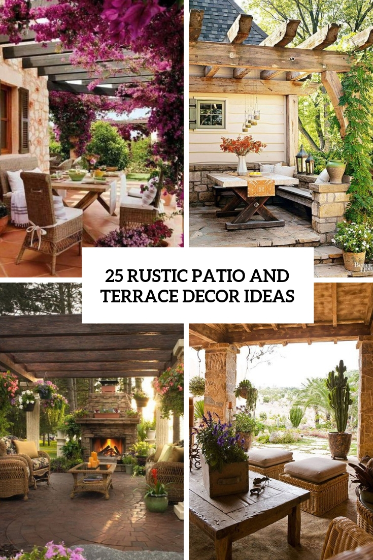 rustic patio and terrace decor ideas cover