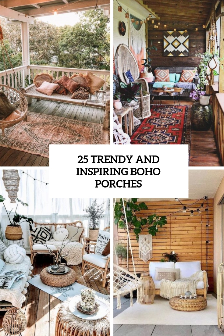 trendy and inspiring boho porches cover