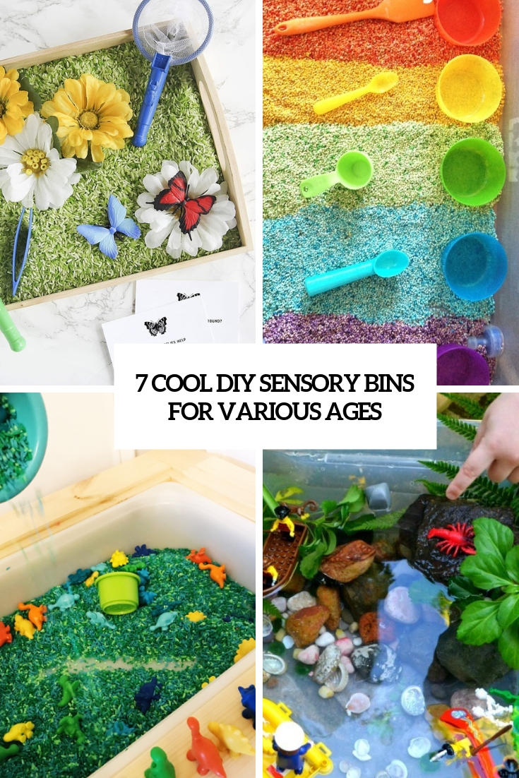7 Cool DIY Sensory Bins For Various Ages