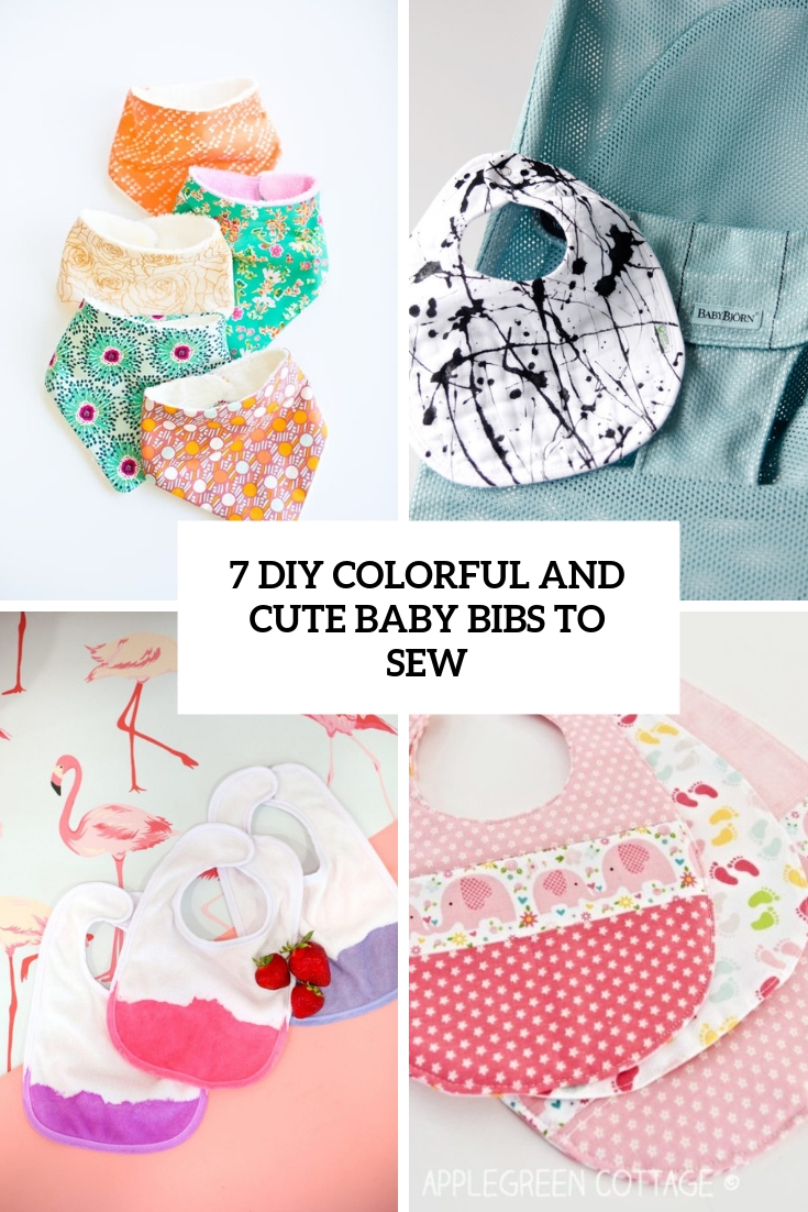 7 Colorful And Cute DIY Baby Bibs To Sew