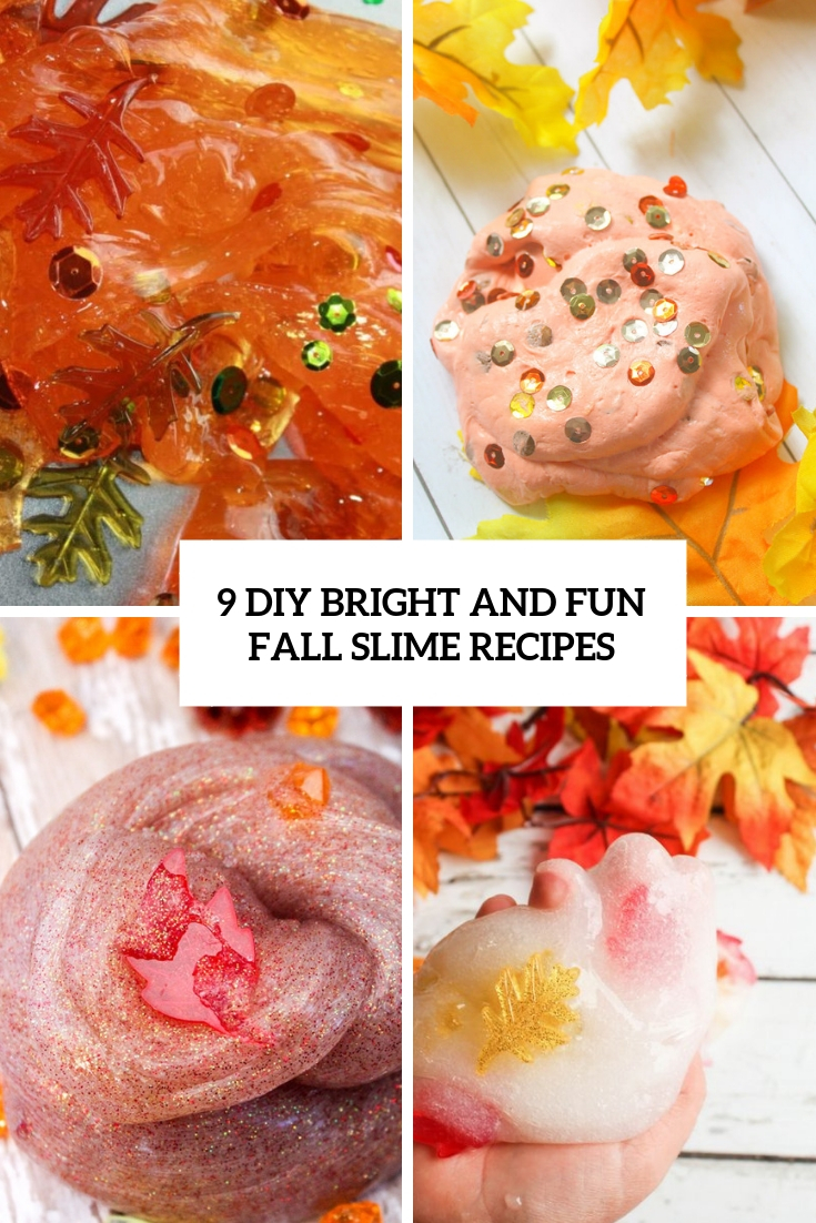 9 DIY Bright And Fun Fall Slime Recipes