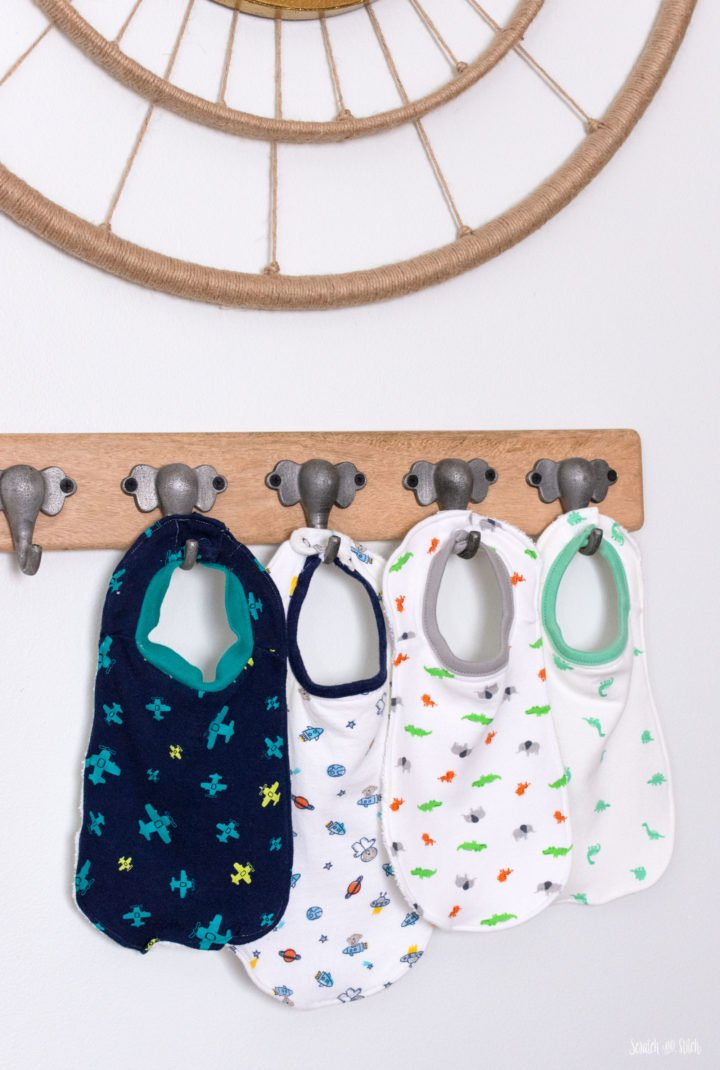 DIY upcycled baby bibs out of baby clothes