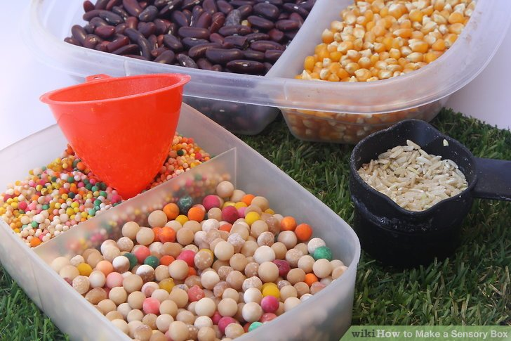 DIY sensory bins for various ages (via www.wikihow.com)