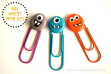 DIY colorful monster paper clips