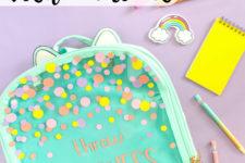 DIY customized vinyl backpack for kids