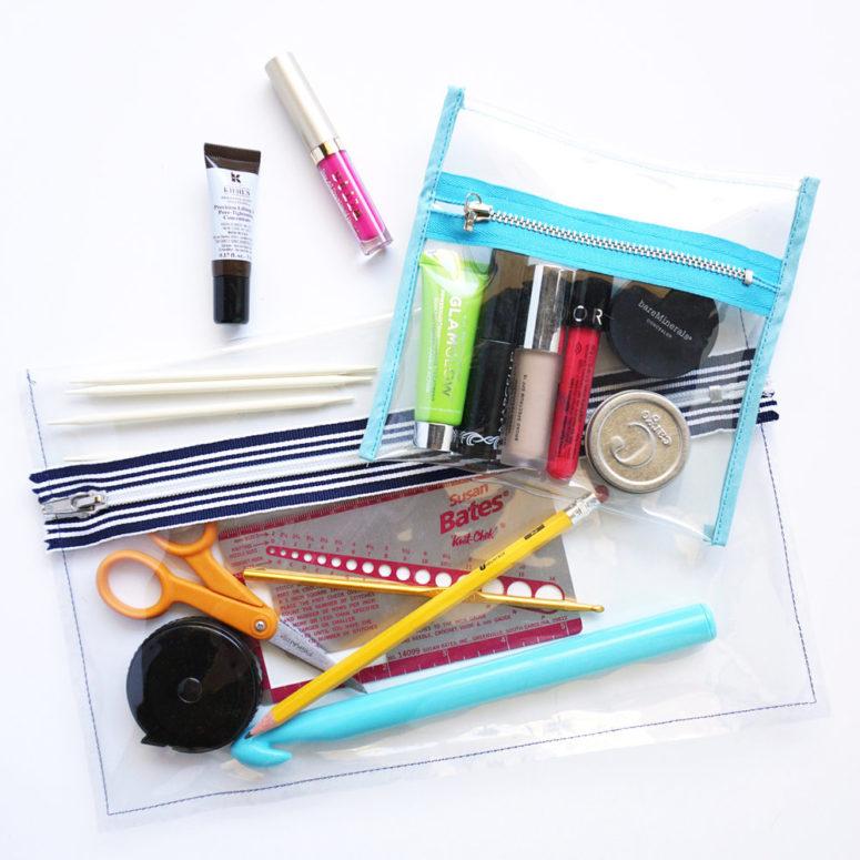 DIY clear vinyl zip pouch (via www.sewdiy.com)