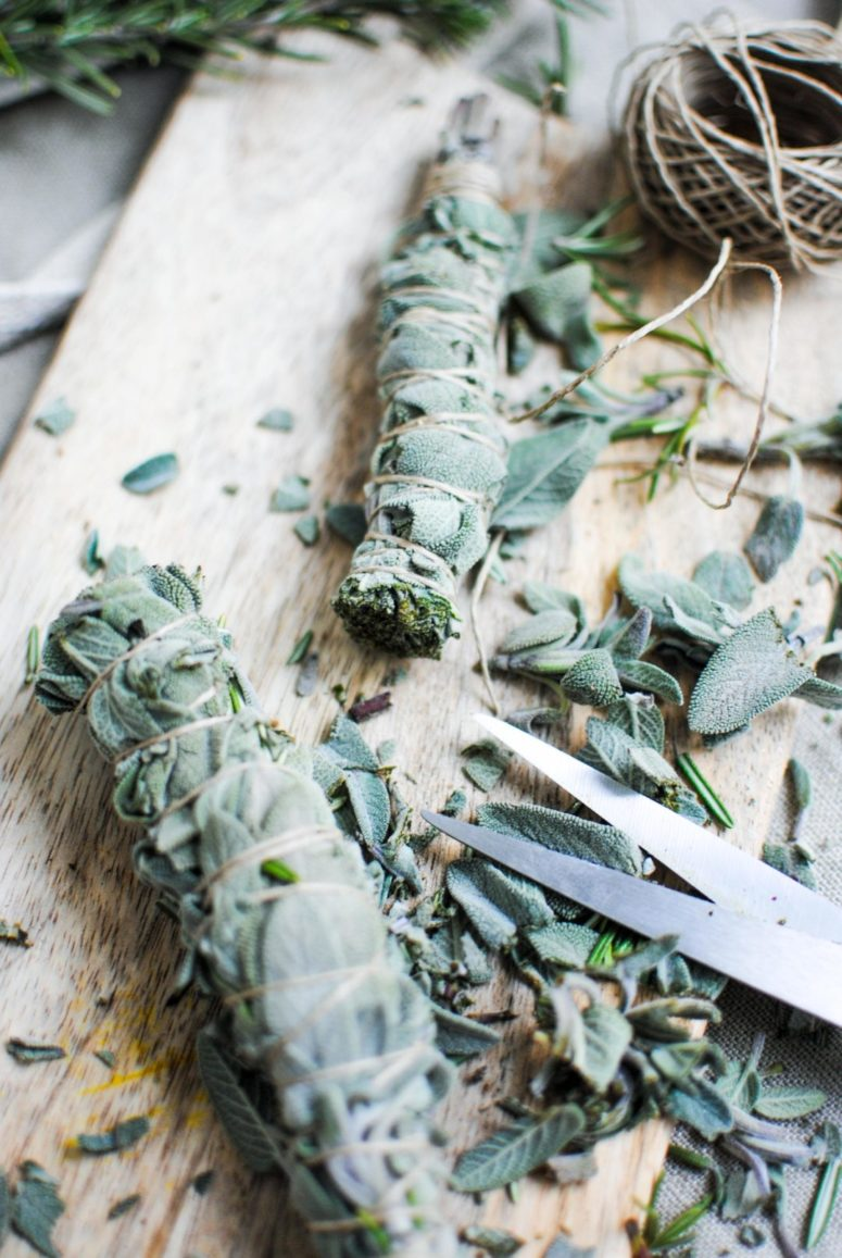 DIY sage bundle smudge stick (via pleaseconsider.com)