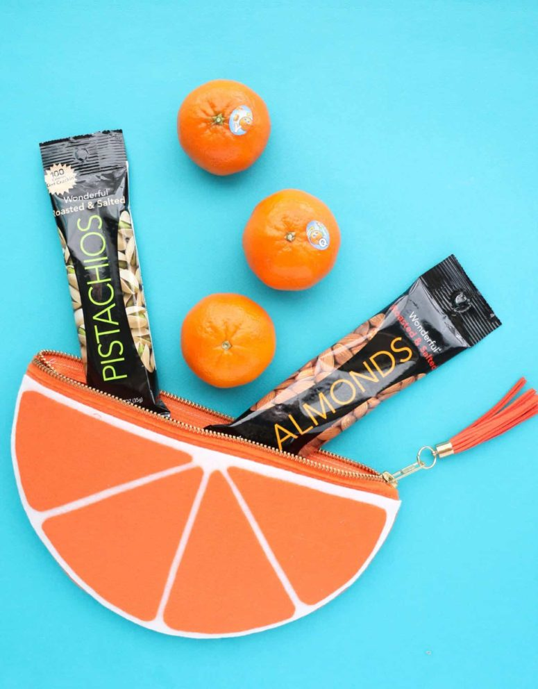 DIY orange slice zip pouch for snacks (via abeautifulmess.com)
