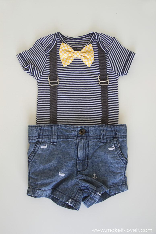 DIY interchangeable bowtie onesie (via makeit-loveit.com)