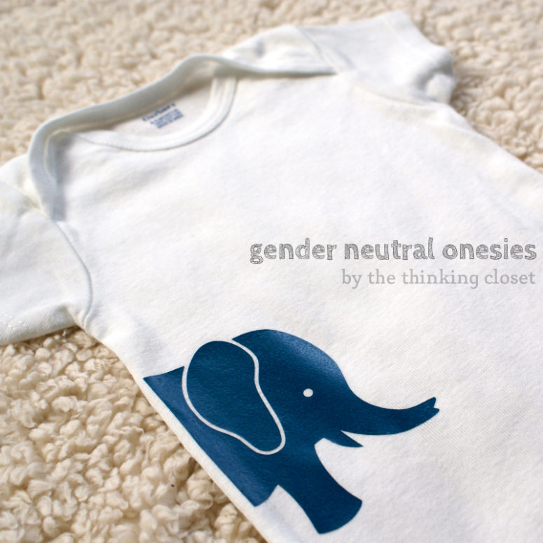 DIY gender neutral baby onesies (via www.thinkingcloset.com)