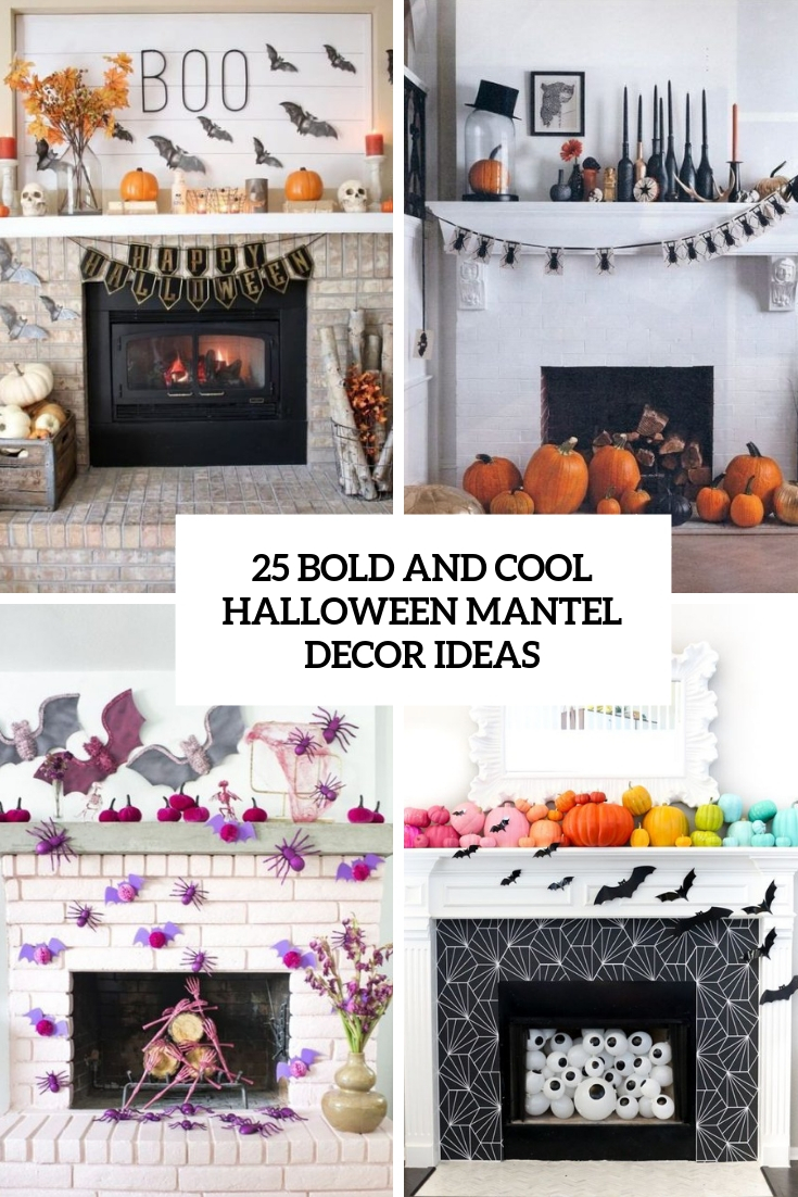 25 Bold And Cool Halloween Mantel Décor Ideas