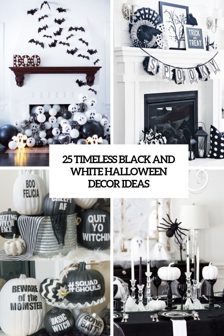 25 Timeless Black And White Halloween Decor Ideas