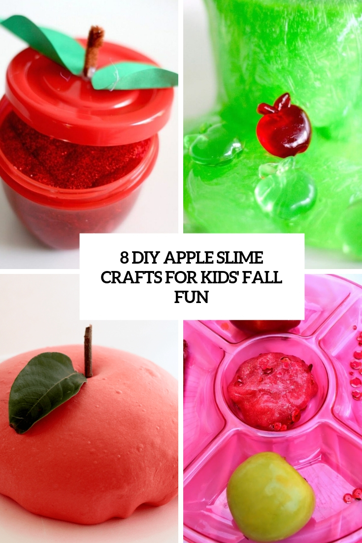 8 diy apple slime crafts for kids' fall fun cover