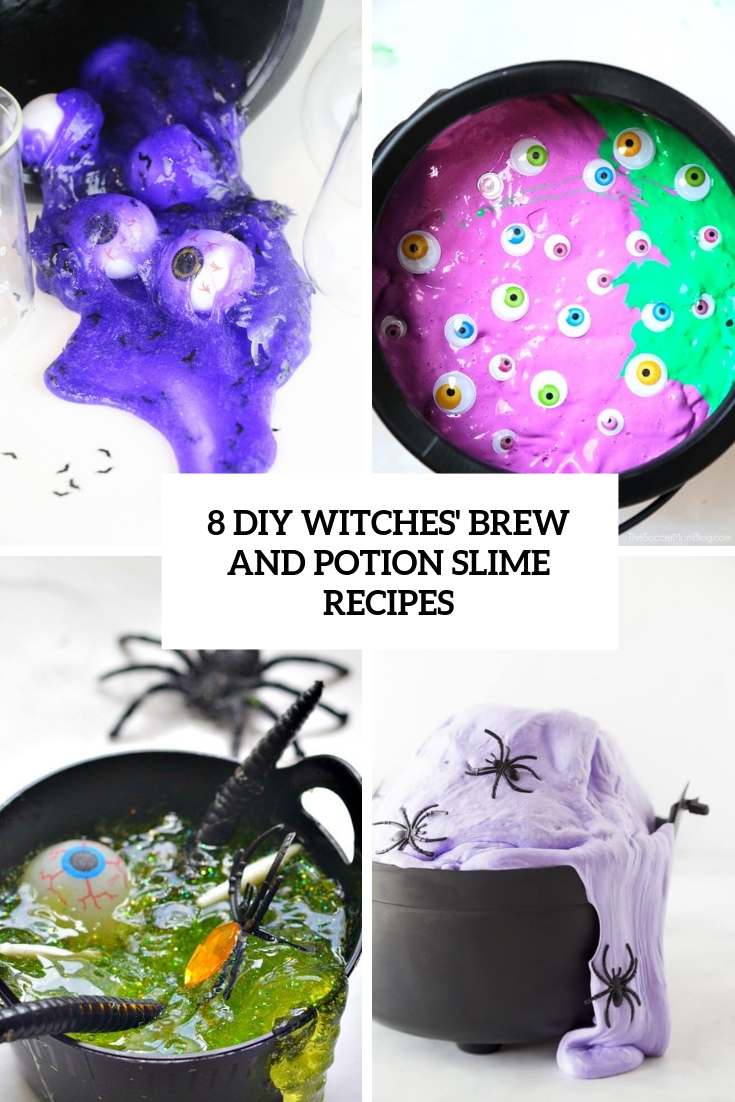 8 DIY Witches' Brew And Potion Slime Recipes