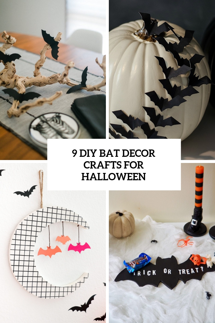 9 diy bat decor crafts for halloween cover
