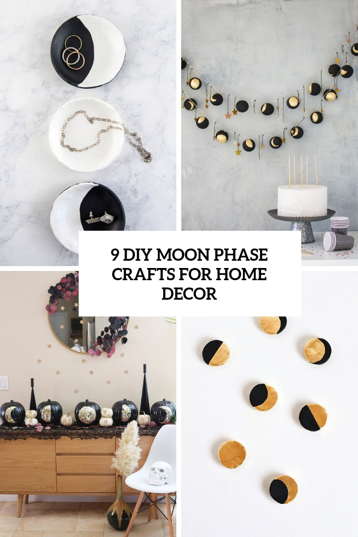 9 DIY Moon Phase Crafts For Home Decor