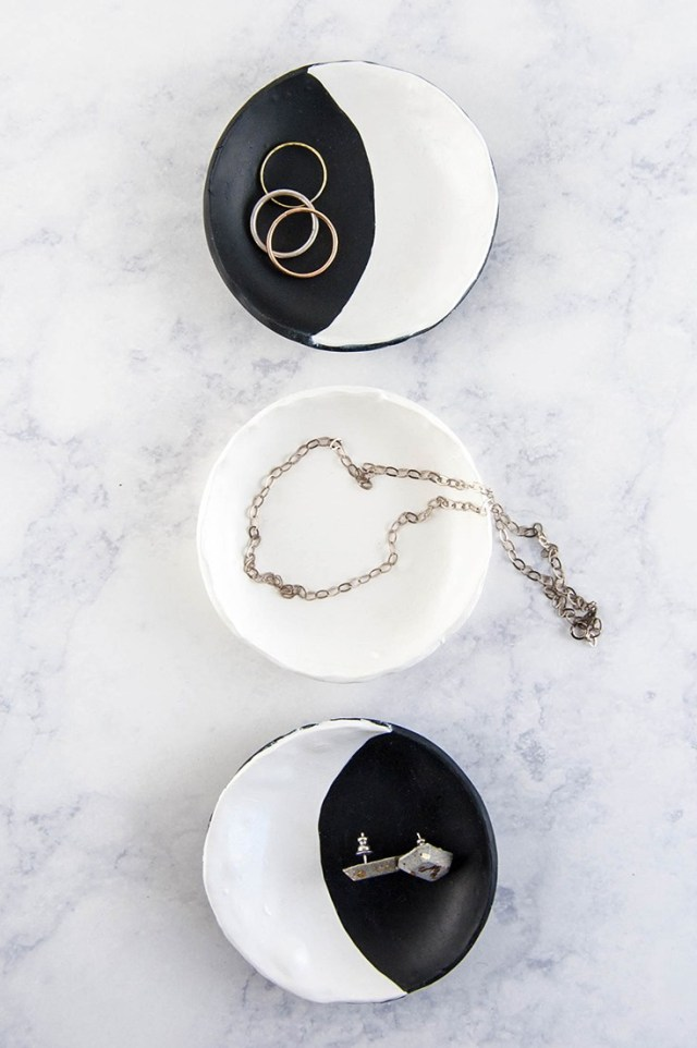 DIY moon phase ring dishes