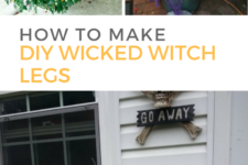 DIY wicked witch legs decor for Halloween