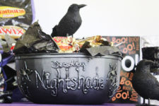 DIy spooky witches' cauldron