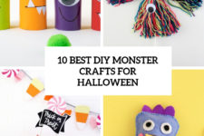 10 bet diy monster crafts for halloween cover