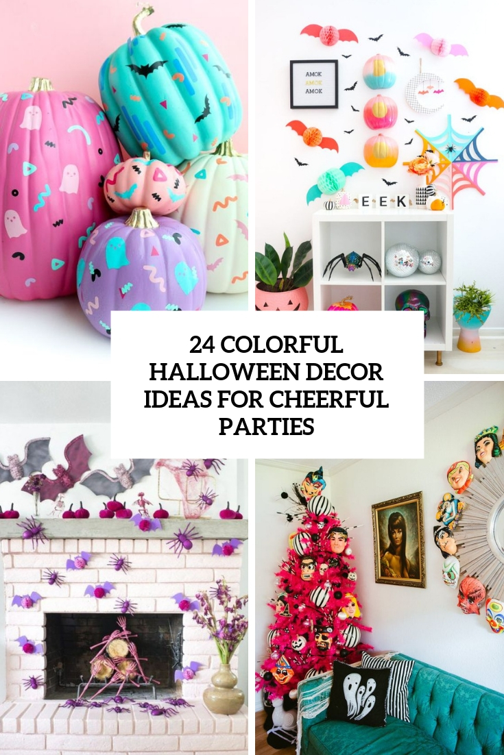 24 Colorful Halloween Decor Ideas For Cheerful Parties