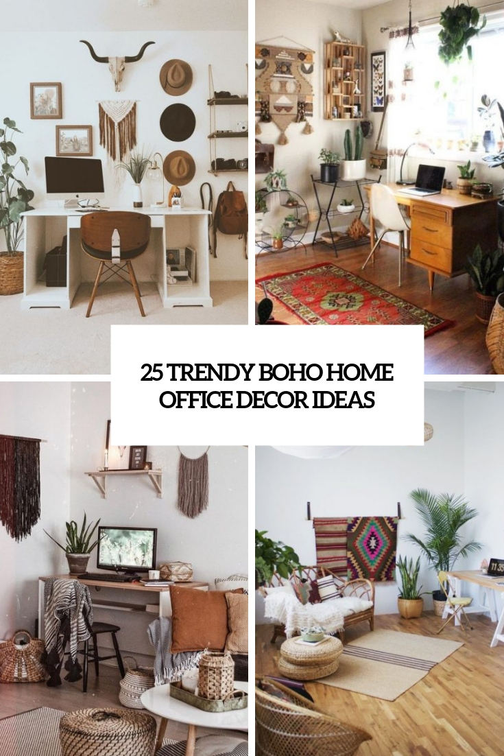 trendy boho home office decor ideas cover