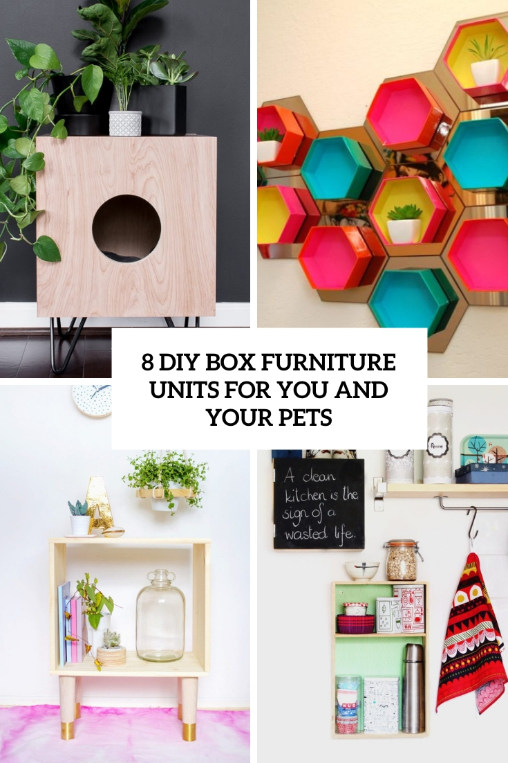 8 DIY Box Furniture Units For You And Your Pets