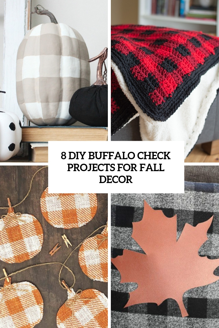 8 DIY Buffalo Check Projects For Fall Decor