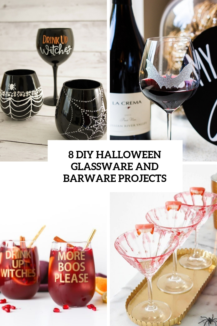 8 diy halloween glassware and barware projects cover