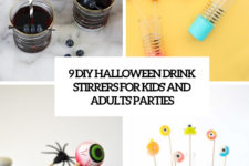 9 diy halloween drink stirrers for kids and adults parties cover