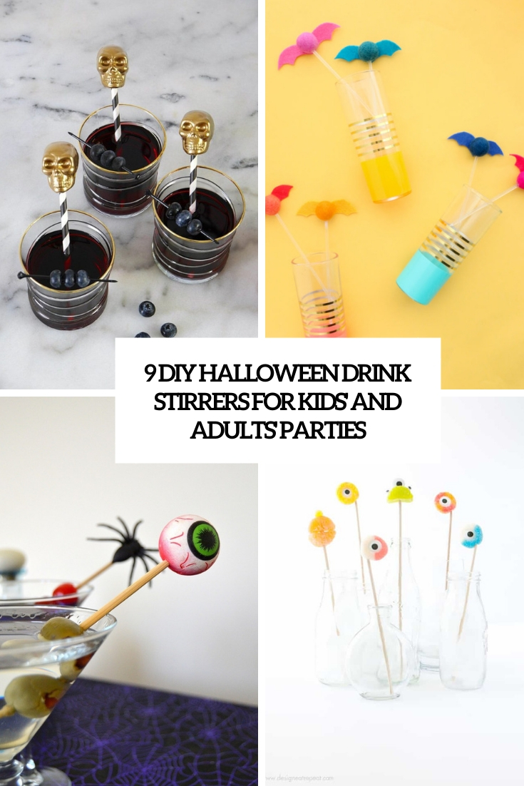 9 DIY Halloween Drink Stirrers For Kids' And Adults' Parties