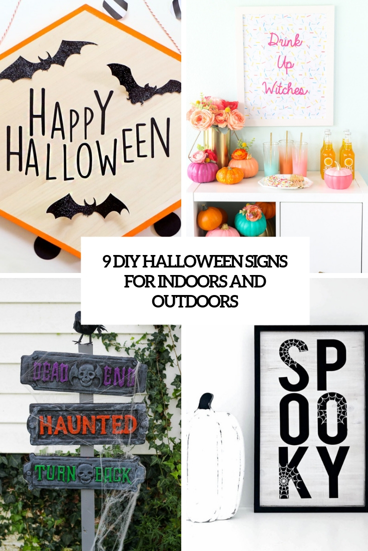 9 DIY Halloween Signs For Indoors And Outdoors