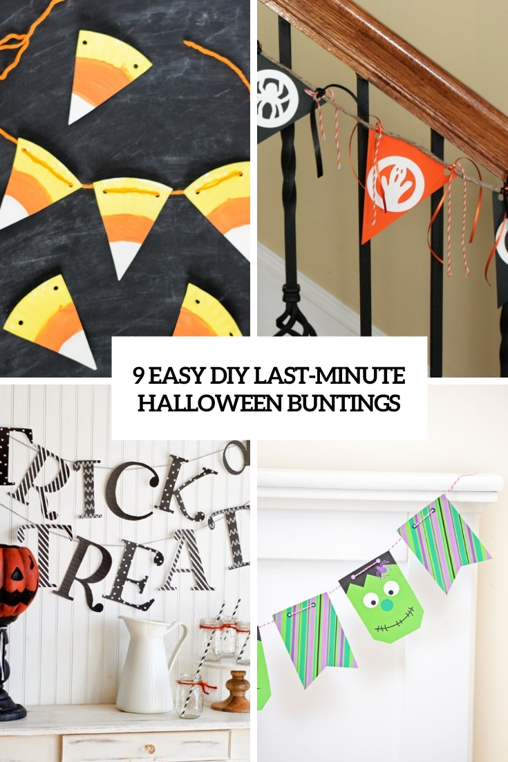 9 Easy DIY Last-Minute Halloween Buntings